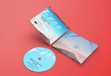 Free Plastic CD Disc Jewel Case Mockup PSD Set