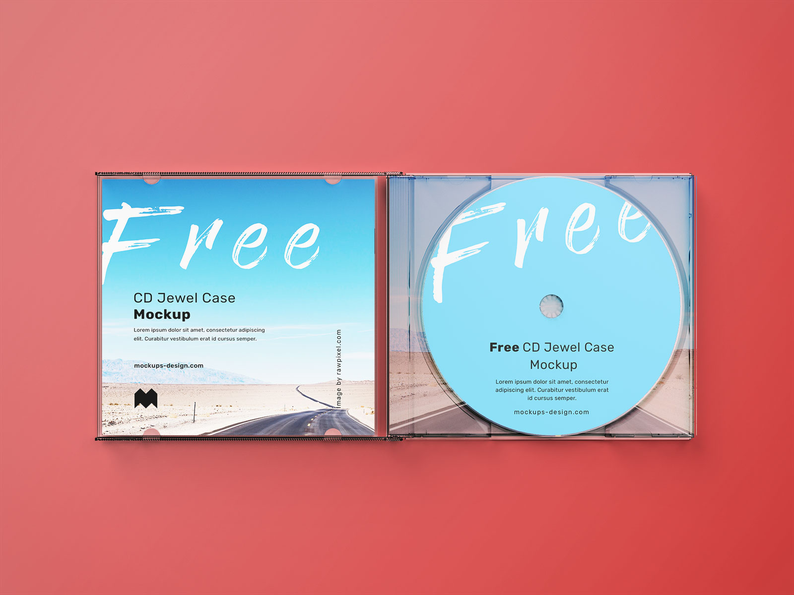 Free Plastic CD Disc Jewel Case Mockup PSD Set