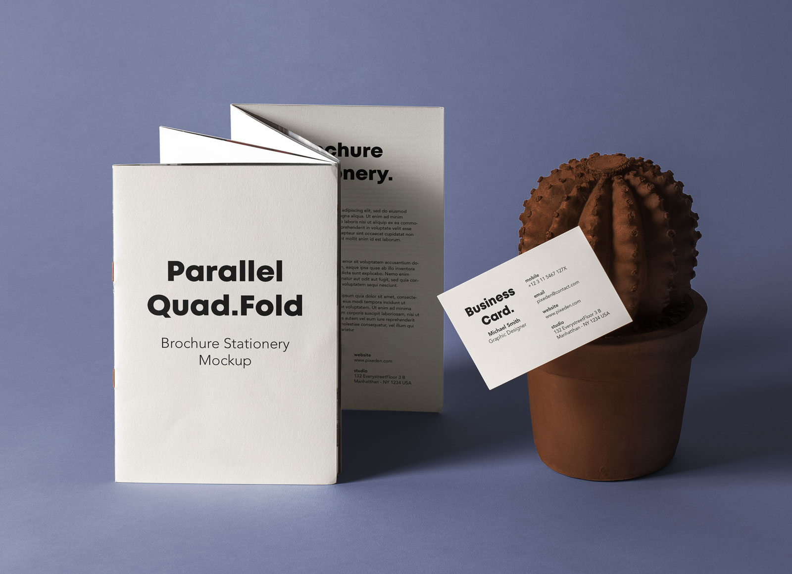 Free-Quad-Fold-Brochure-&-Name-Card-Mockup-PSD