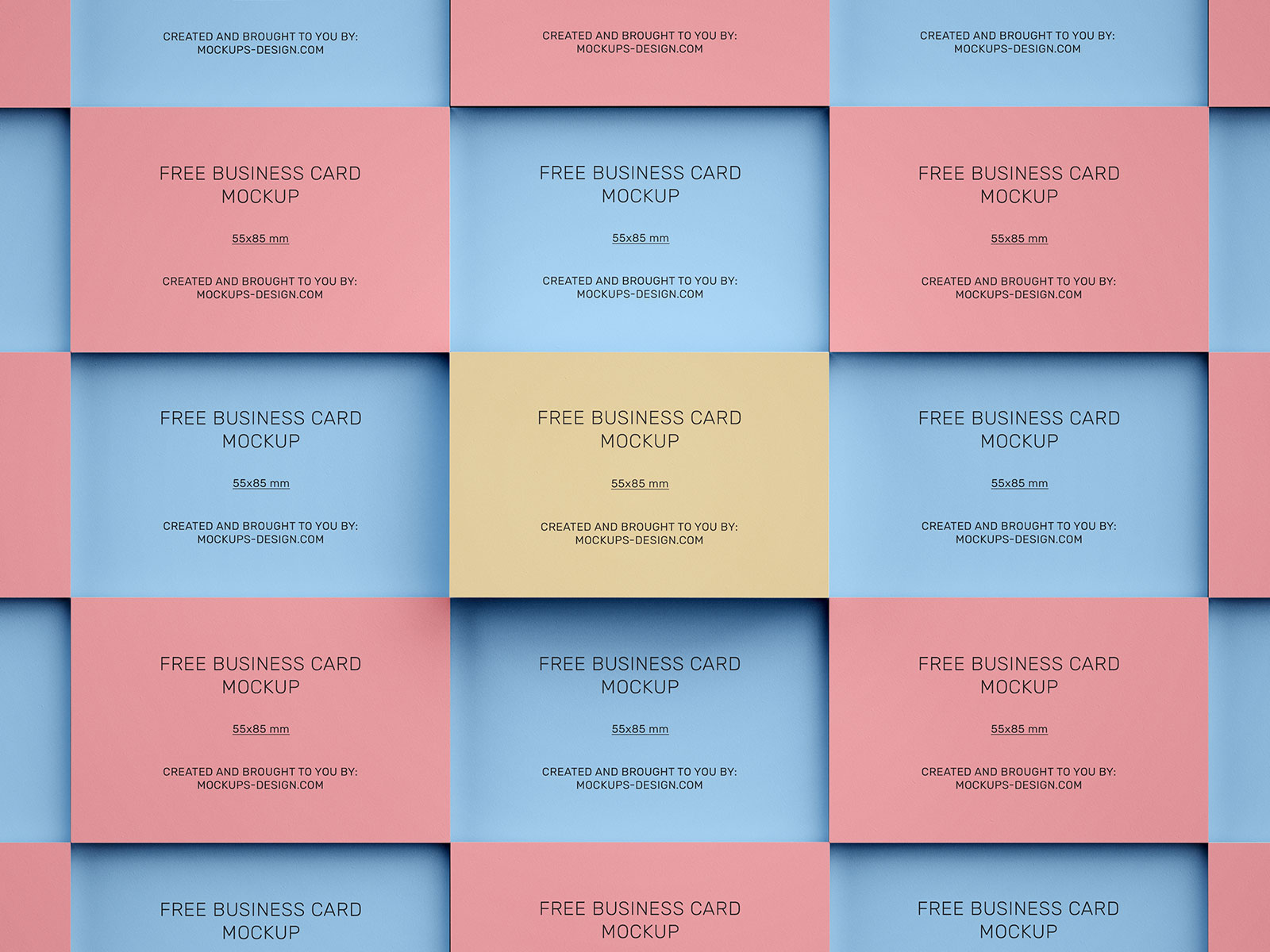 Free-Stacked-Multiple-Business-Card-Mockup-PSD-Set