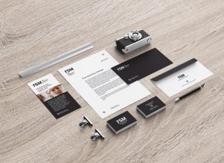 Free Photoshop Stationery Mockup PSD Set For Photographers