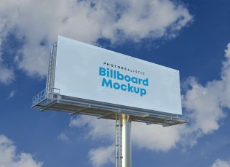 Free Photorealistic Advertisement Billboard Mockup PSD