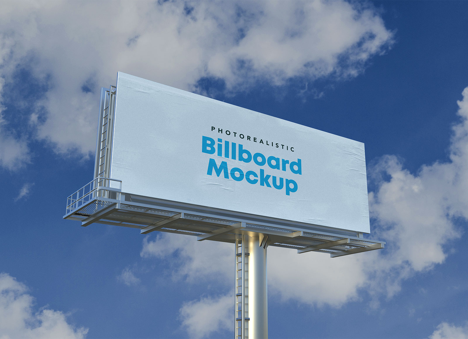 Free Photorealistic Advertisement Billboard Mockup PSD