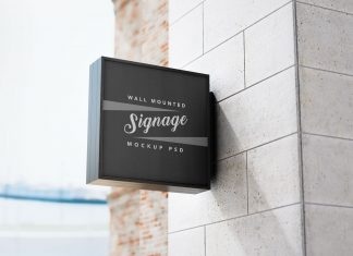 Free-Square-Wall-Mounted-Signage-Mockup-PSD