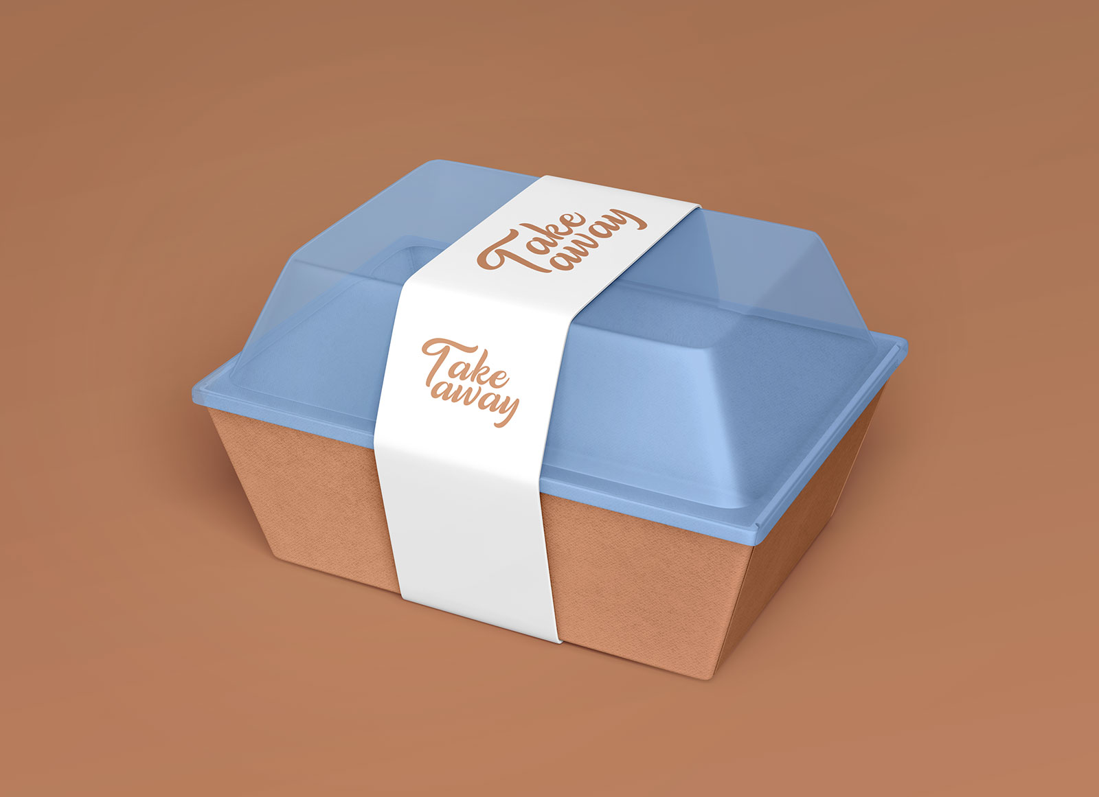 Free Take Away Plastic Food Container / Box Mockup PSD Set