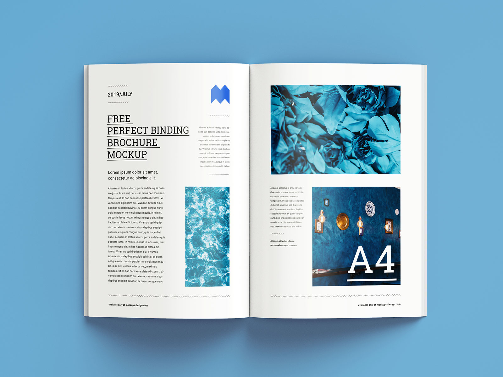 Free A4 Brochure Magazine Mockup Set (6 PSD Files) (1)