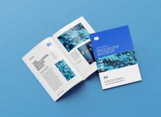 Free A4 Brochure Magazine Mockup Set (6 PSD Files) (1)