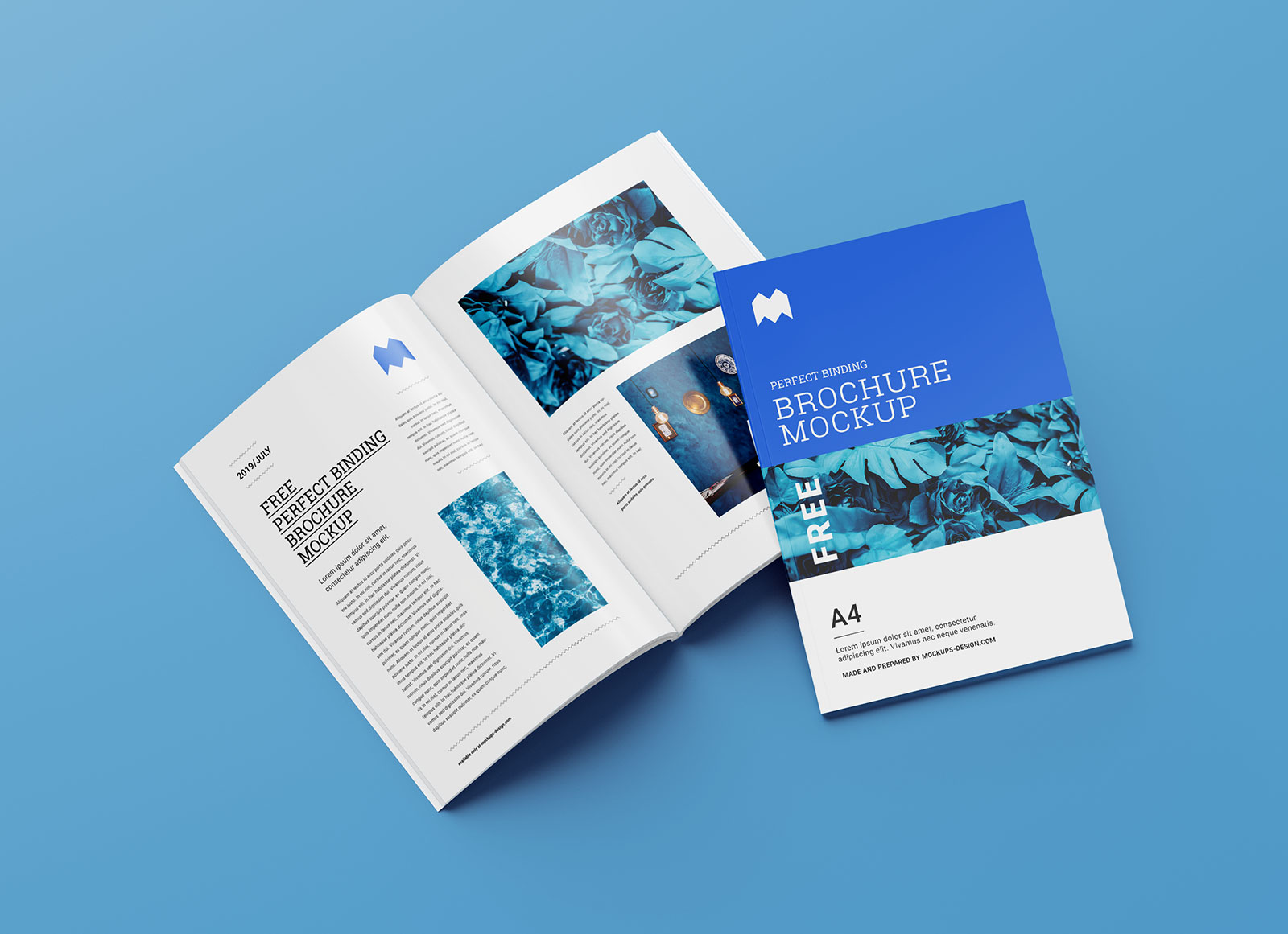 Download Free A4 Magazine / Brochure Book Mockup Set (6 PSD Files ...