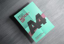Free-Folded-A4-Size-Flyer-Poster-Mockup-PSD