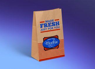 Free Kraft Paper Take Away Food Packaging Mockup PSD
