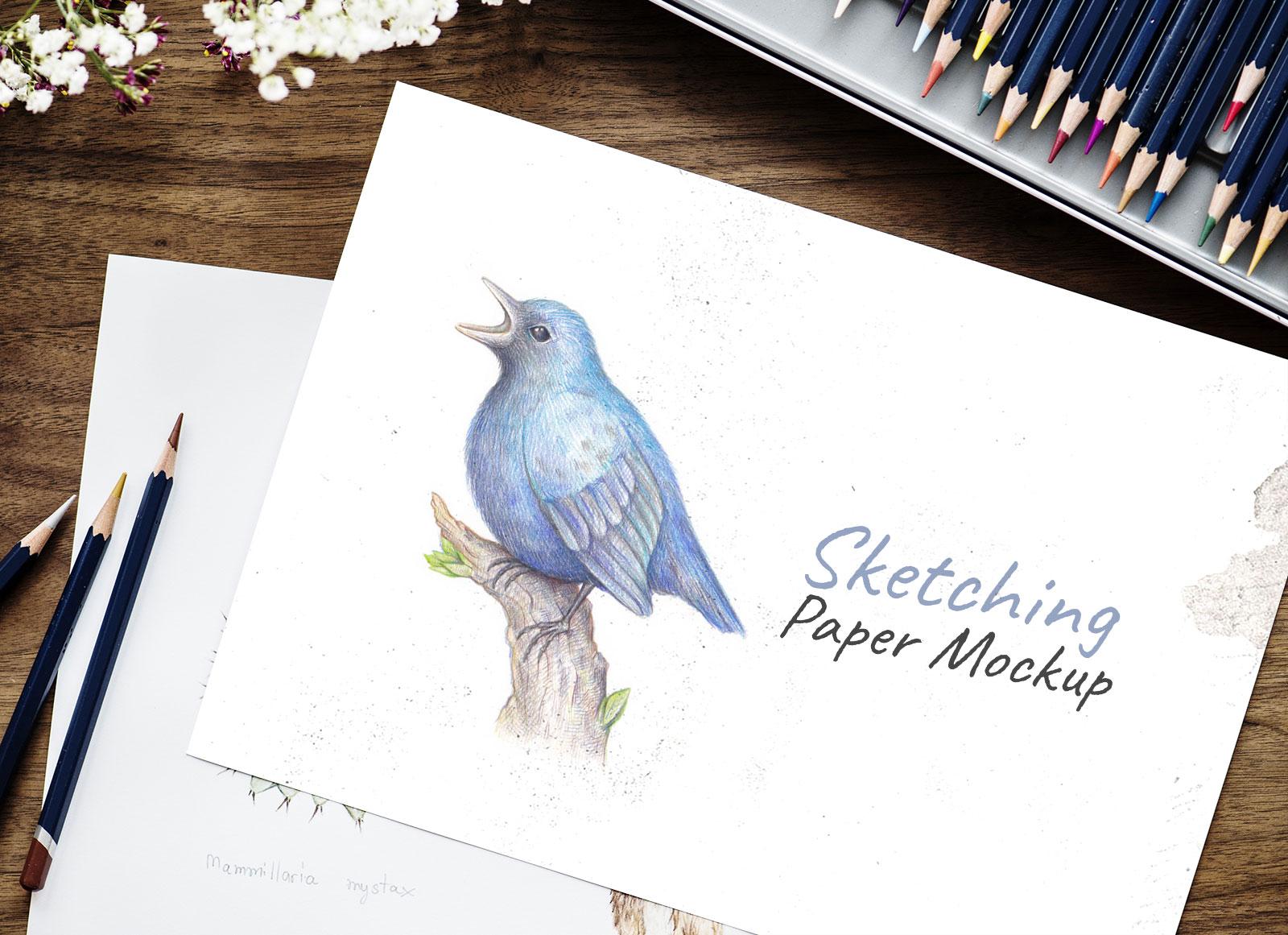 Free-Sketching-Drawing-Paper-Mockup-PSD-2
