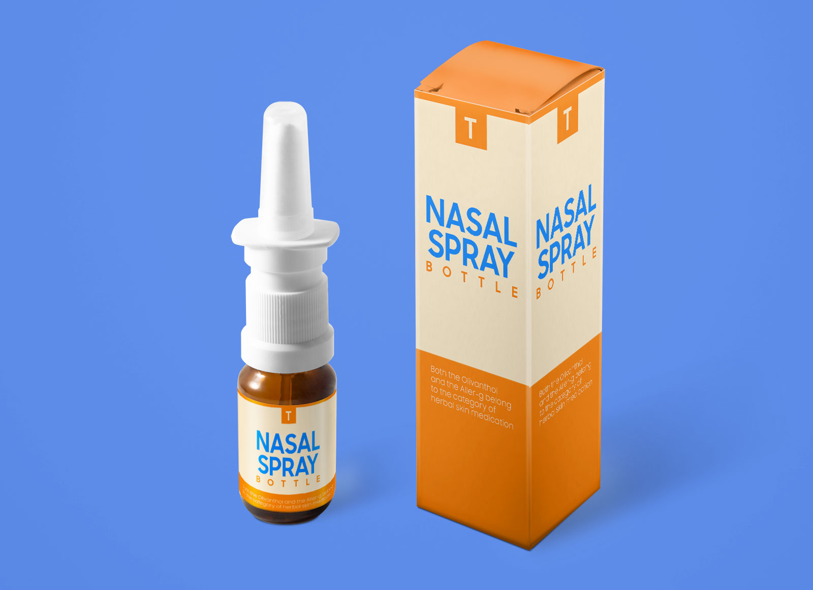 Free Amber Glass Medical Spray Bottle Mockup PSD Set (1)