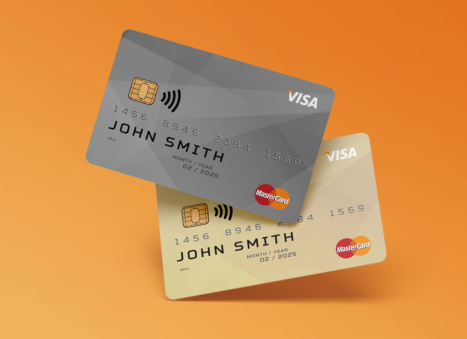 Free Credit Membership Card Mockup Psd Set Front Back Good