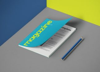 Free Magazine Cover Page Mockup PSD