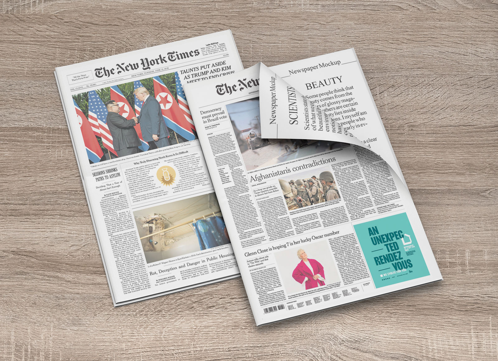 Free-Newspaper_Cover-&-Inner-Pages-Mockup-PSD-Set-2