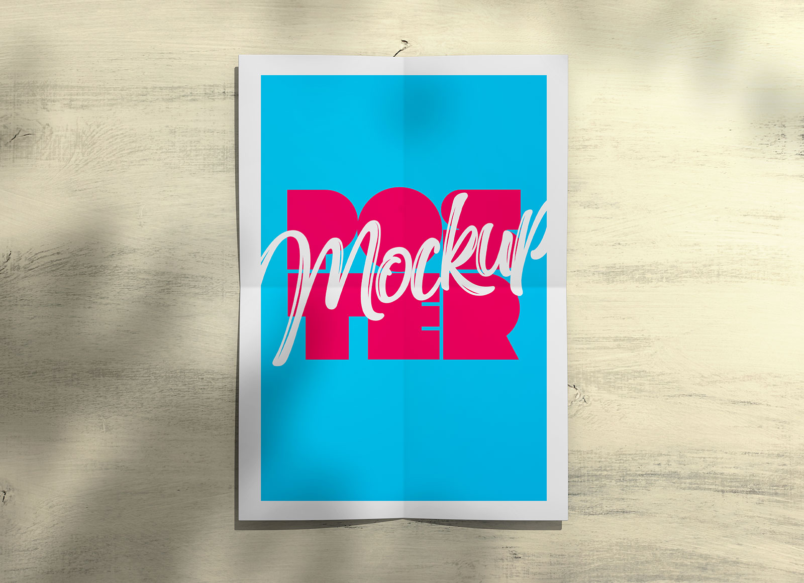 Free-Poster-Mockup-with-Shadow-PSD
