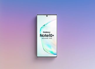 Free Samsung Galaxy Note10+ Mockup PSD