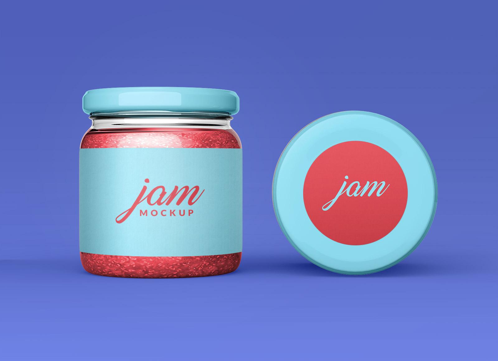 Free-Small-Jam-Bottle-Mockup-PSD