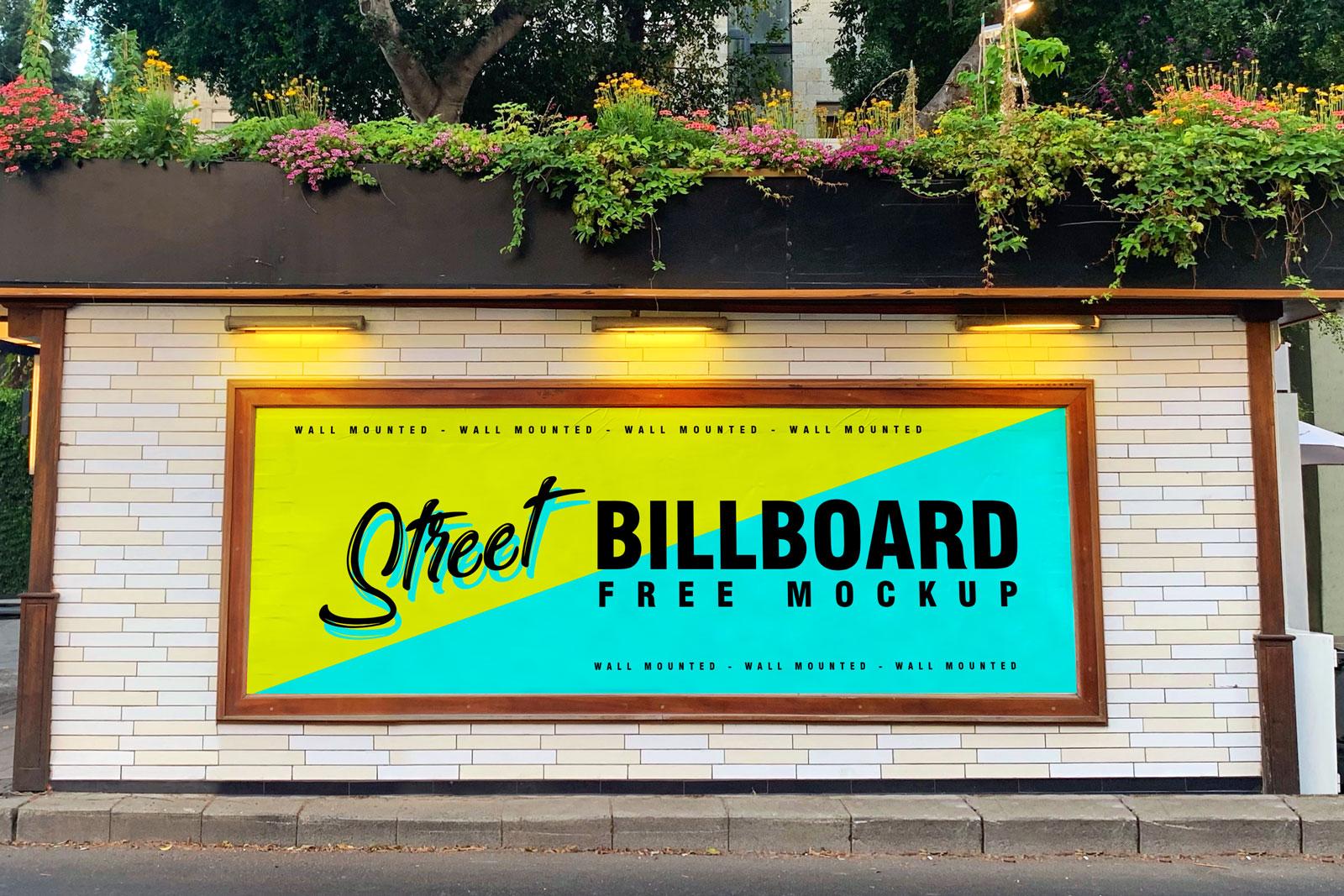 Free-Street-Wall-Mounted-Billboard-Mockup-PSD