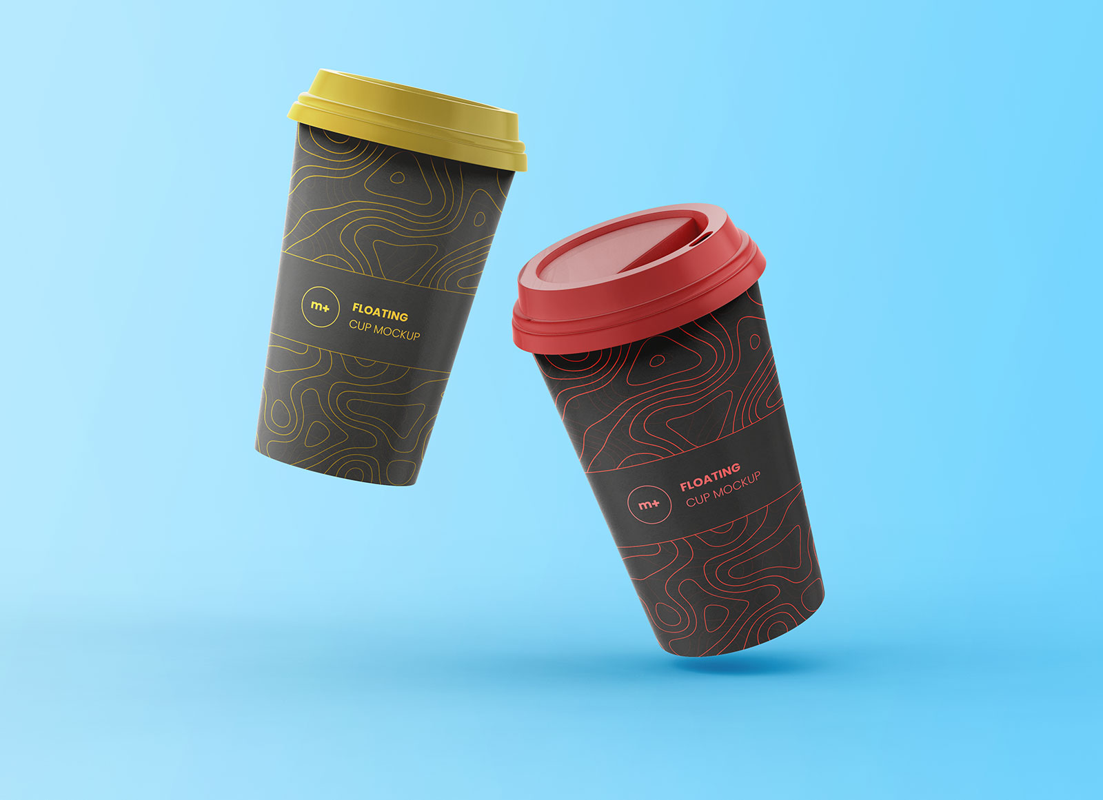 Two-Free-Floating-Coffee-Cups-Mockup-PSD