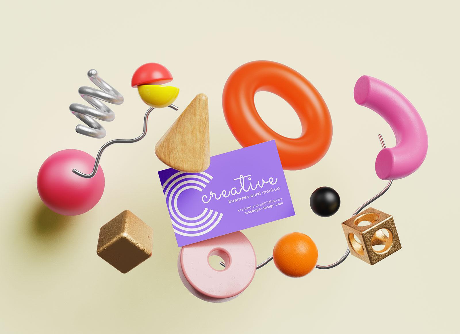Free Creative Business Card Mockup PSD Set