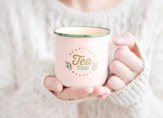 Female-Holding-Tea-Cup-Free-Mockup-PSD