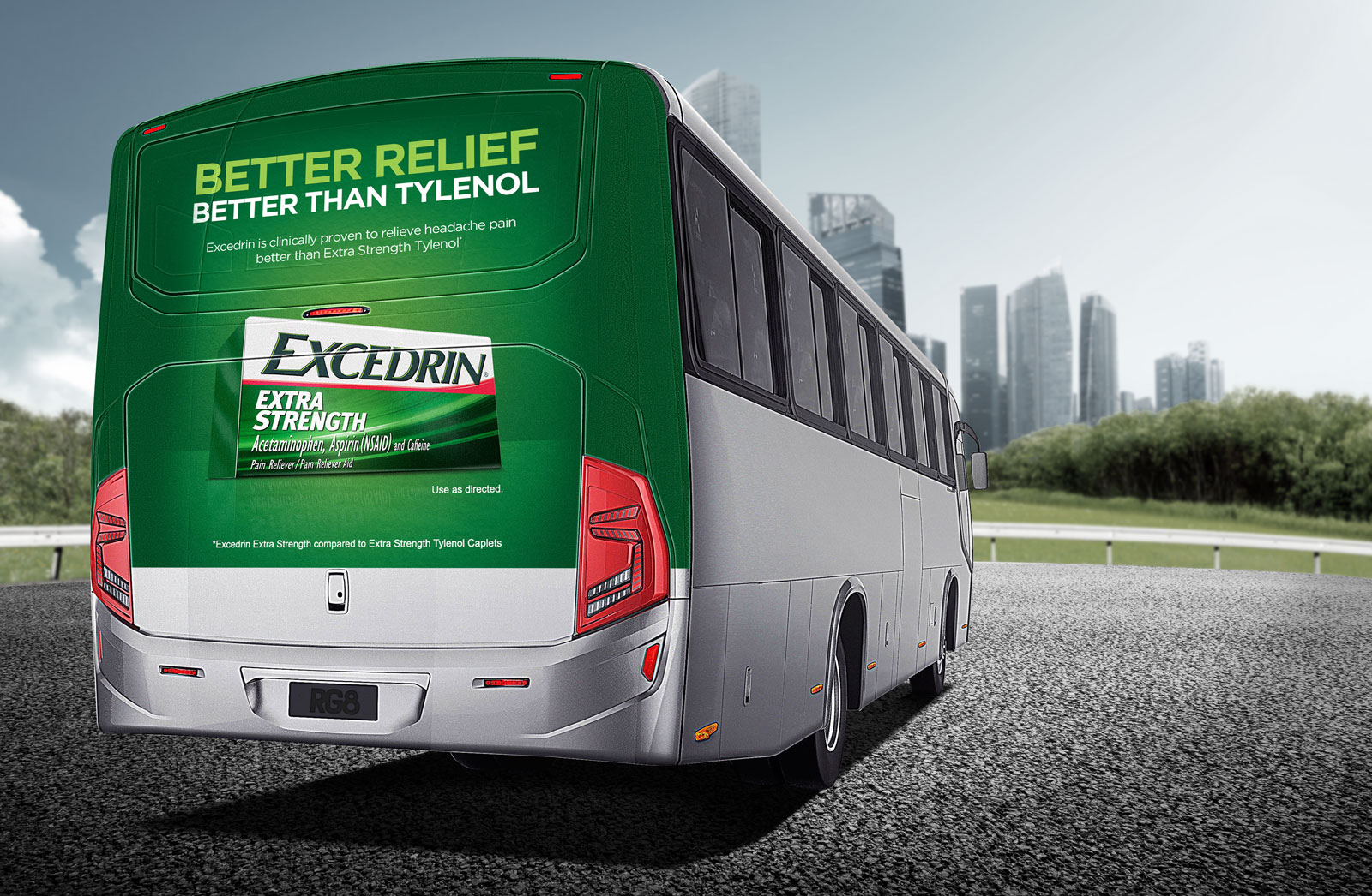 Free Back Of Bus Ad Branding Mockup PSD