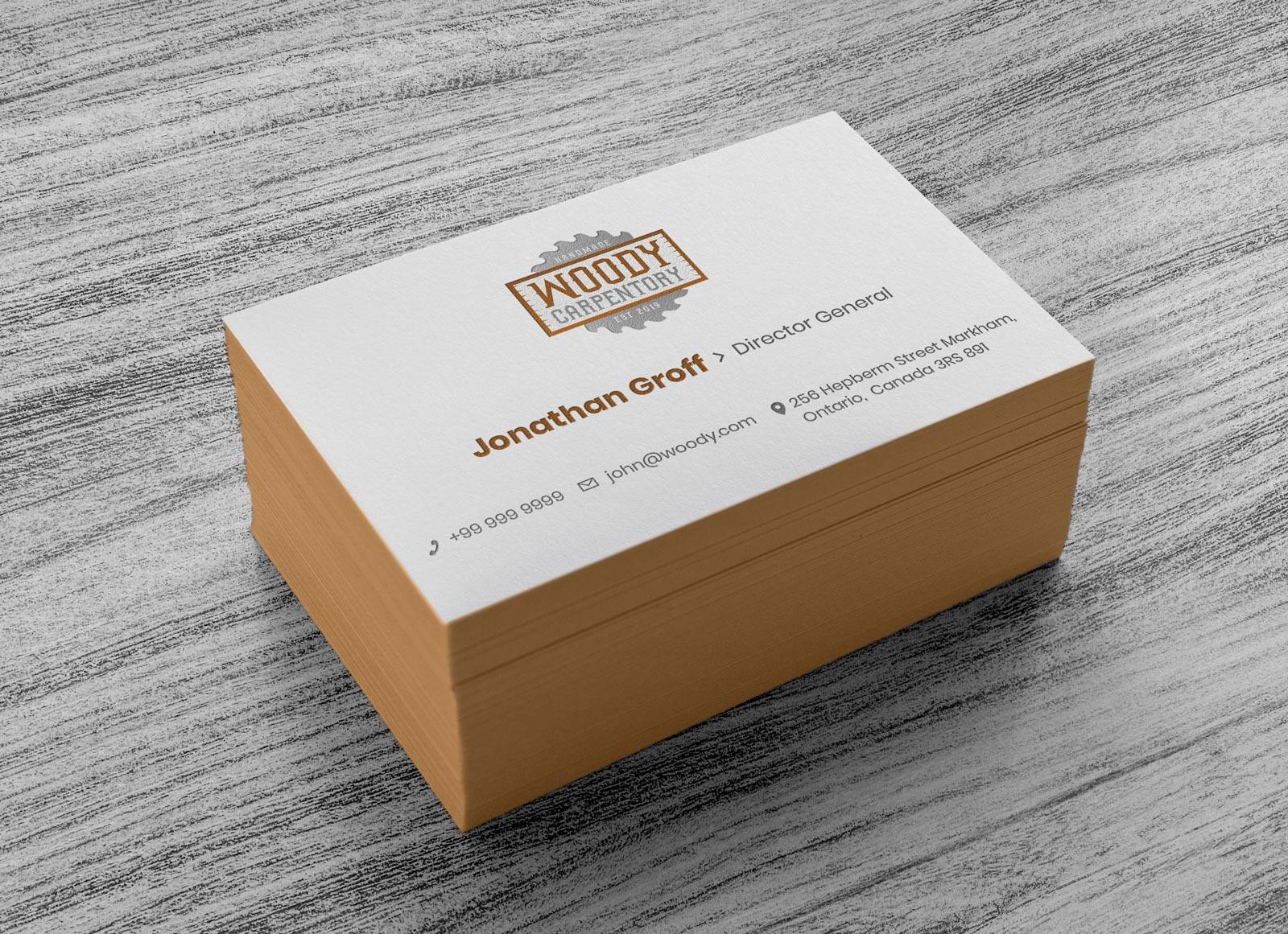 Free Business Card Design & Mockup PSD Template
