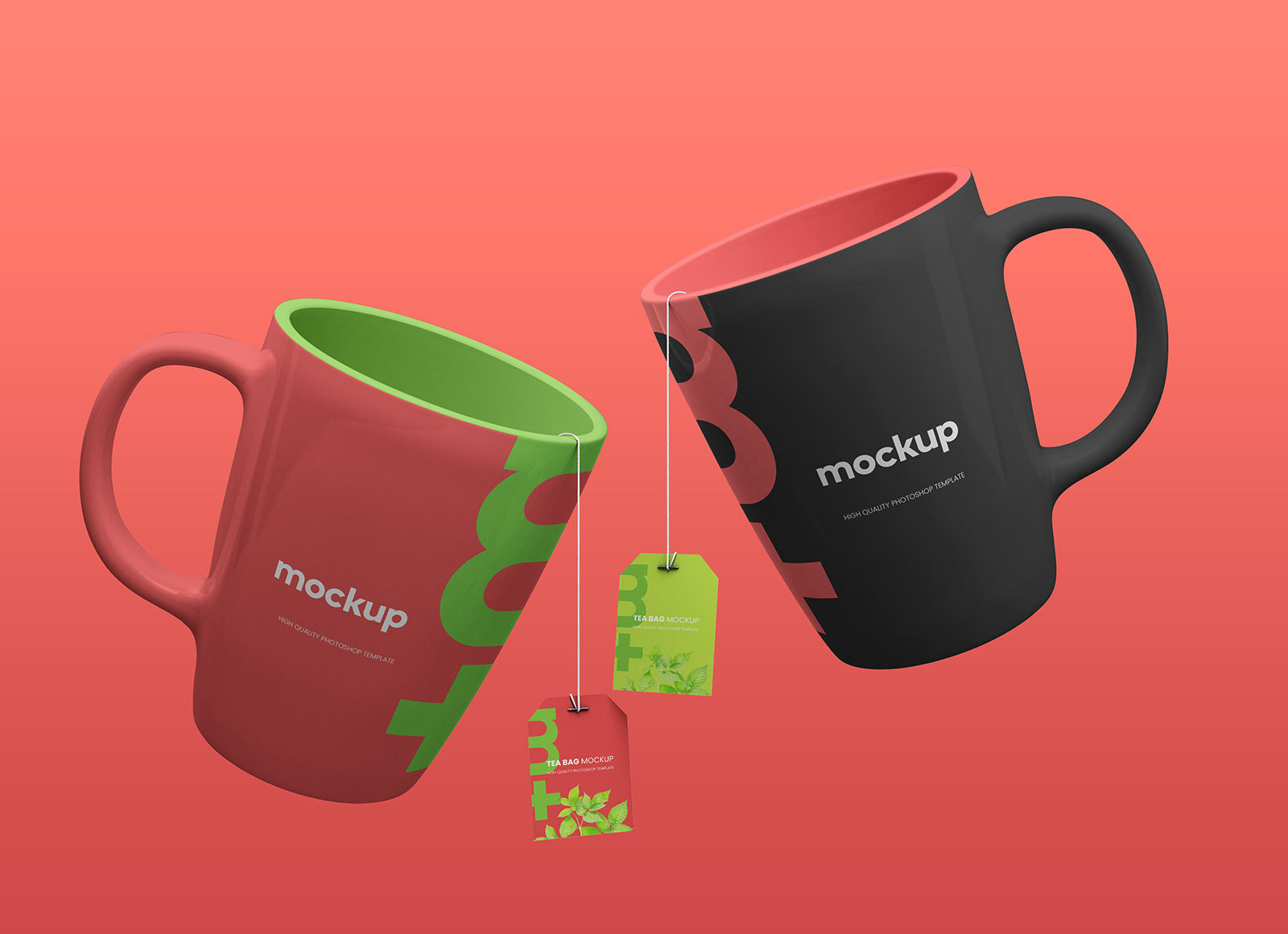 Free-Floating-Ceramic-Mugs-&-Tea-Labels-Mockup-PSD