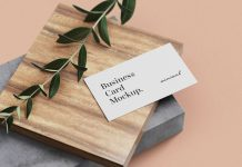 Free-Minimal-Business-Card-mockup-PSD-Set