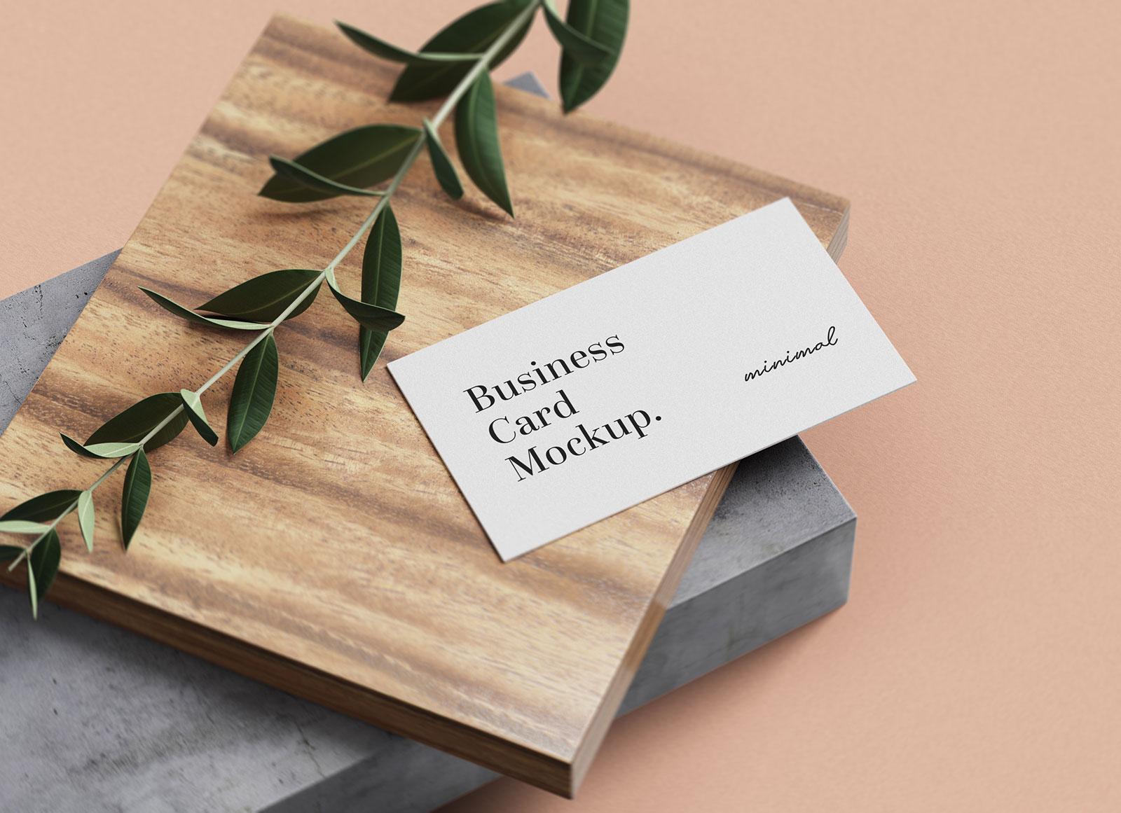 Free-Minimal-Business-Card-mockup-PSD-Set