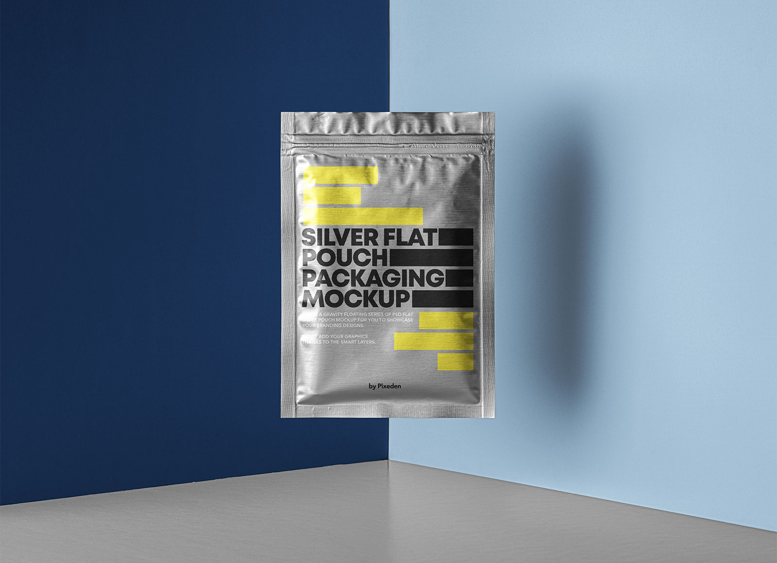 Free-Side-Seal-Floating-Silver-Pouch-Packaging-Mockup-PSD