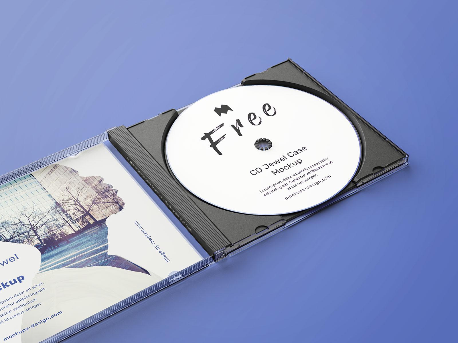 Free CD Disc Jewel Case Mockup PSD Set