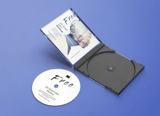Free CD Disc Jewel Case Mockup PSD Set