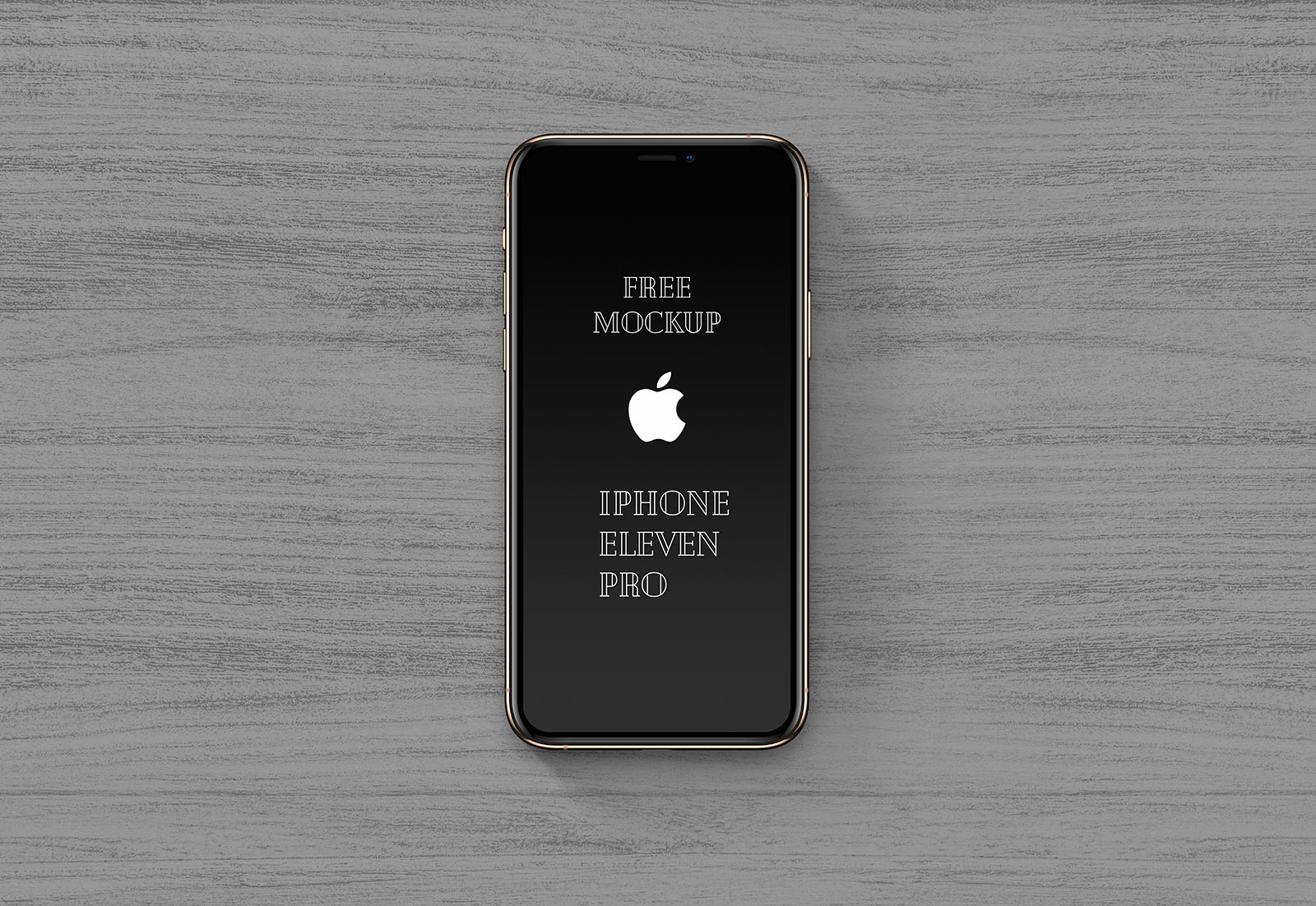 Free Ultra High Resolution iPhone 11 Pro Mockup PSD Set