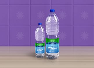 Free-1-Liter-Mineral-Drinking-Water-Bottle-Mockup-PSD-File