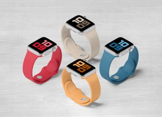 Free-Apple-Watch-Series-5-Set-Mockup-PSD