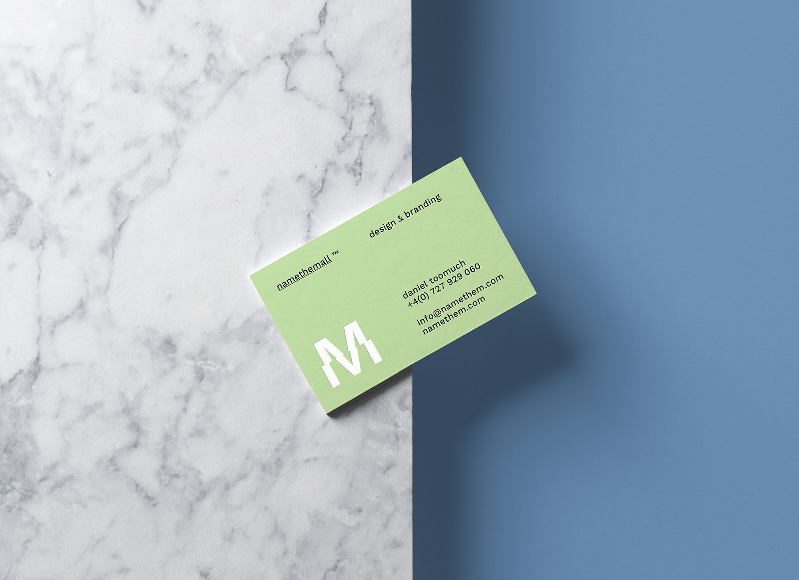 Free Business Card On The Edge Of Surface Mockup PSD