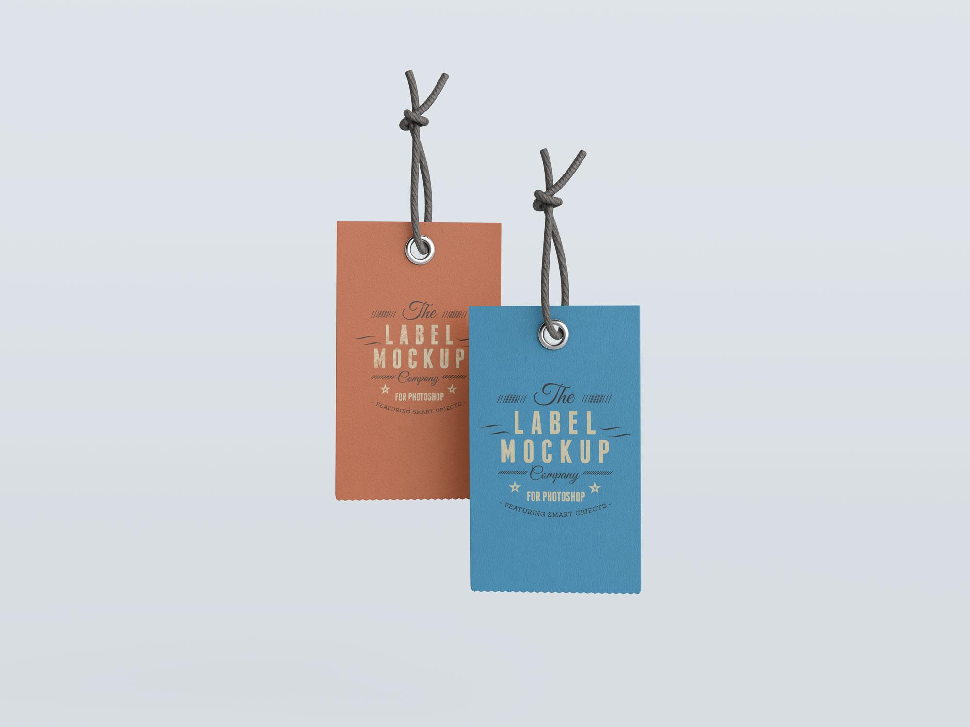 Free Clothing Label Hang Tag Mockup Psd Good Mockups