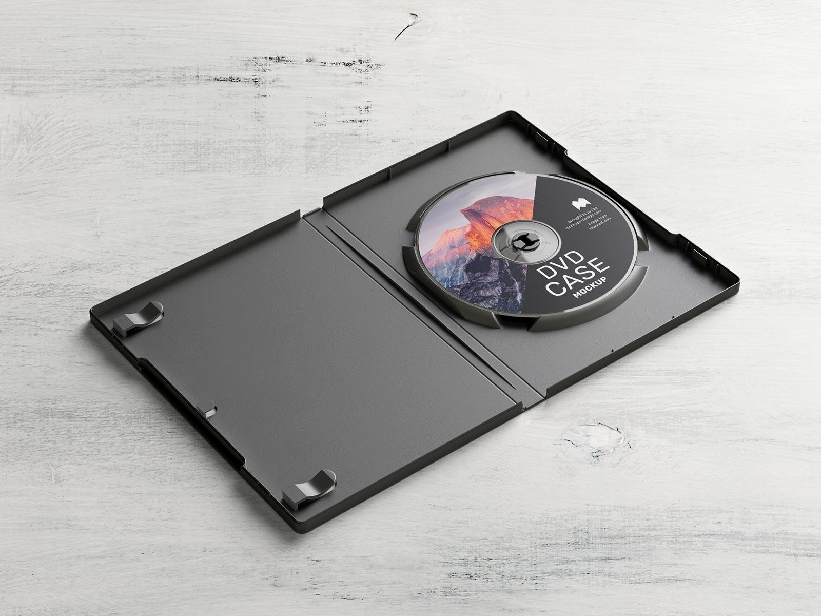 Free DVD Box Disc Case Mockup PSD Set