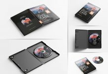 Free DVD Box Disc Case Mockup PSD Set