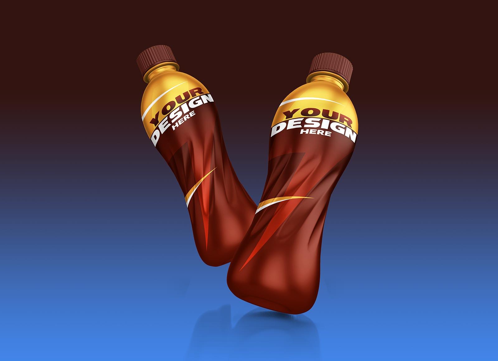 Free Energy Drink Bottle Mockup PSD