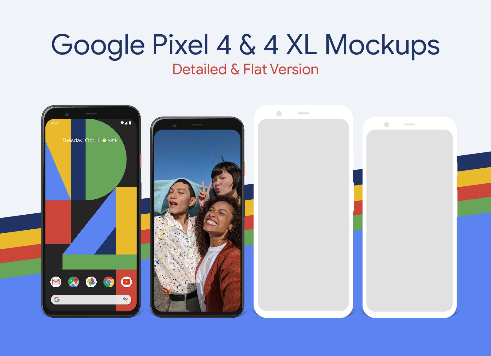 Free-Google-Pixel-4-&-4-XL-Mockup-PSD-&-Ai-01