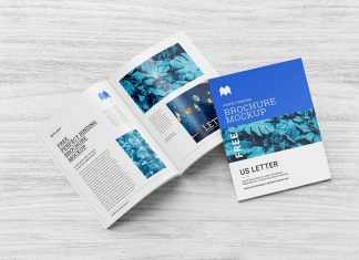 Free Multi-Purpose Perfect Binding US Letter Brochure / Magazine Mockup PSD Set