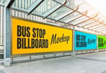 Free-PSD-Bus-Stop-Advertising-Poster-Mockup