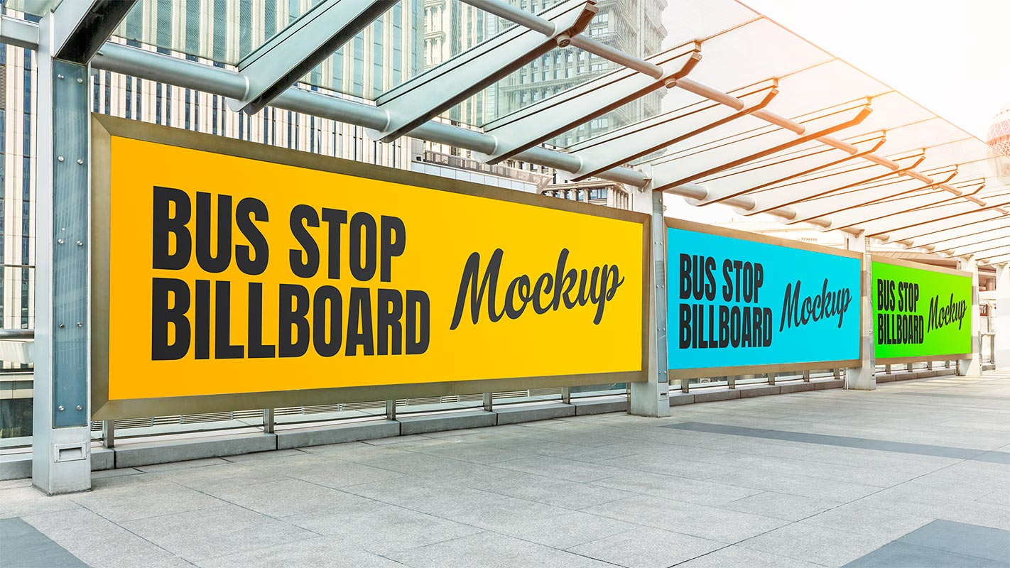 Free-PSD-Bus-Stop-Advertising-Poster-Mockup-PSD