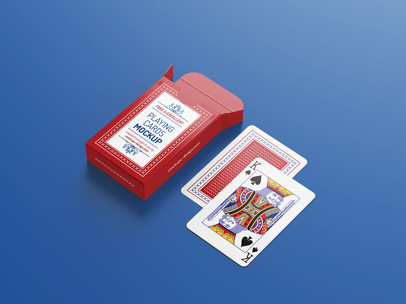 Free Playing Card Deck & Packaging Mockup PSD (1)