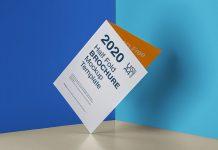 Free US Letter / A4 Bi-Fold Brochure Mockup PSD