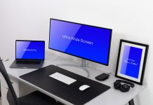 Free-Ultra-Wide-Screen-Monitor-MacBook-Pro-&-Frame-Mockup-PSD-File