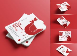 Free Children's Story Board Book Mockup PSD Set (1)